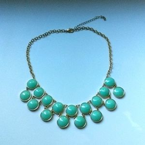 Mint and Gold Bubble Necklace